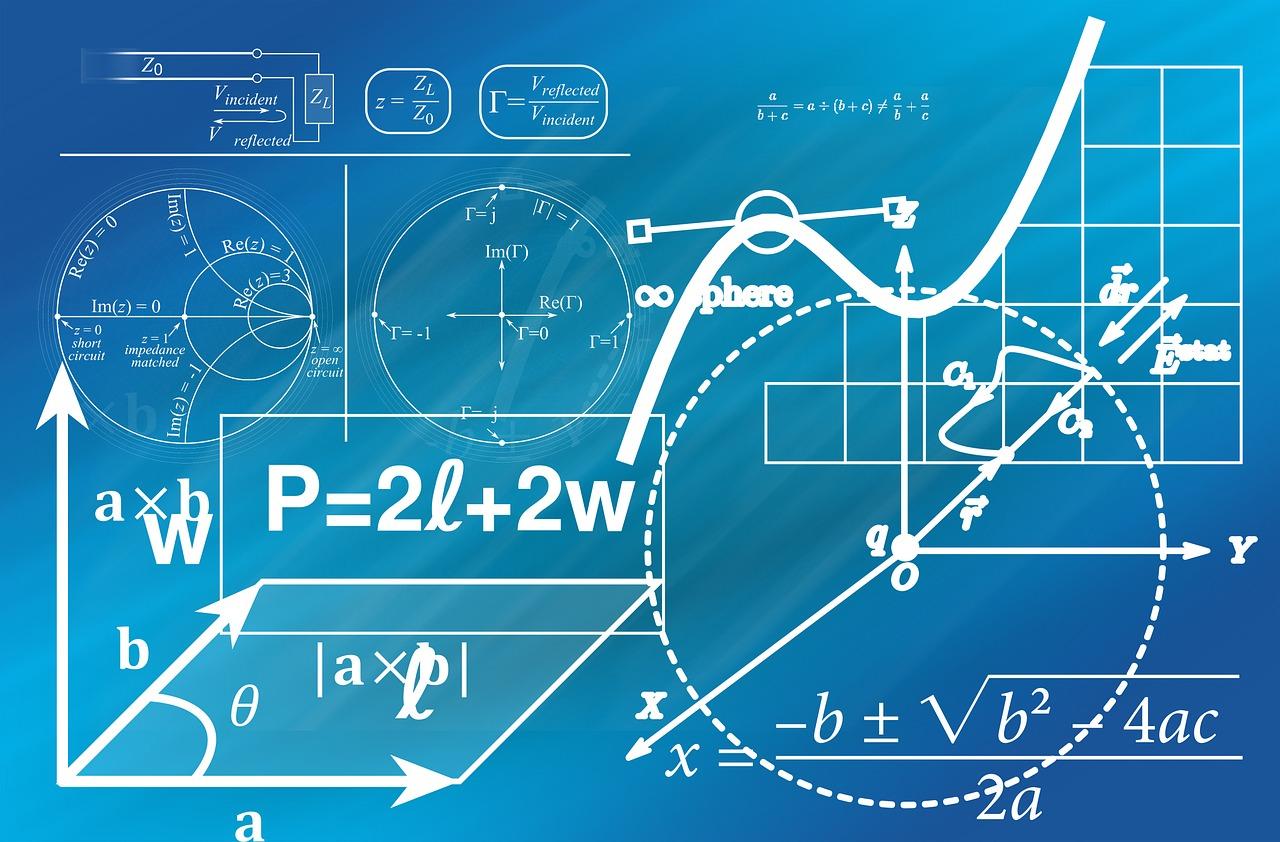 Ilustración con fórmulas matemáticas