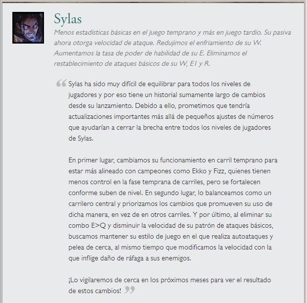 Sylas parche 10.1