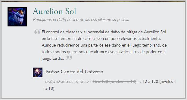 Aurelion parche 10.1