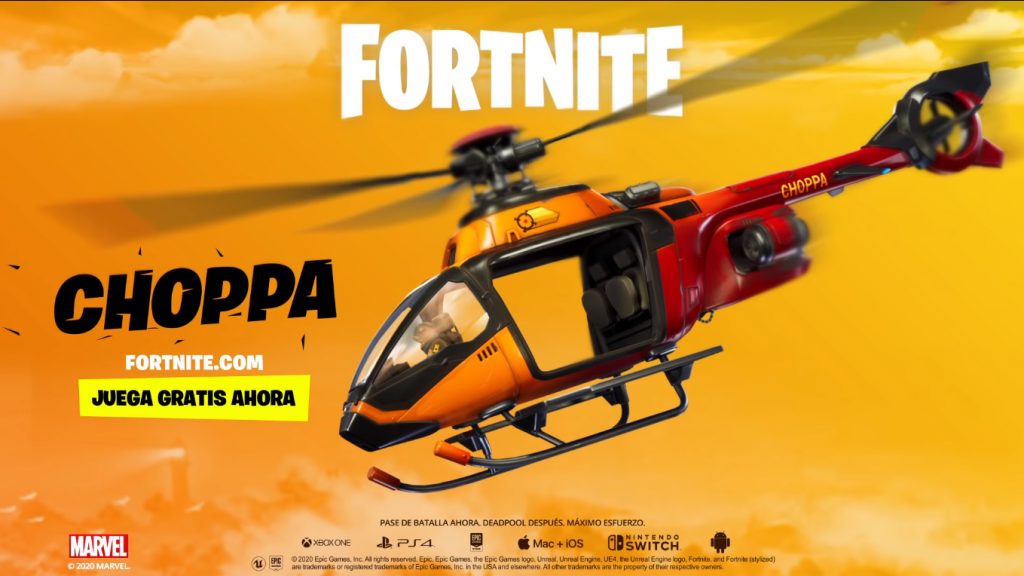 Fortnite helicóptero Choppa
